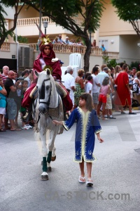 Person moors javea christian fiesta.