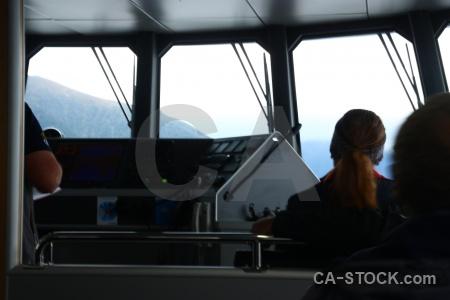 Person new zealand cabin lake manapouri south island.