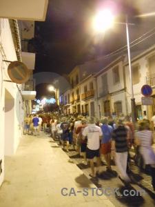 Person road fiesta building javea.