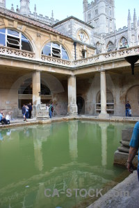 Person roman water building pool.