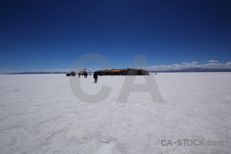 Person salt flat bolivia salar de uyuni building.