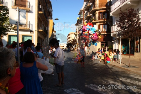 Person tree fiesta javea sky.