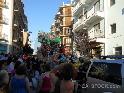 Person tree float building javea.