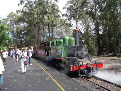 Person vehicle train green.