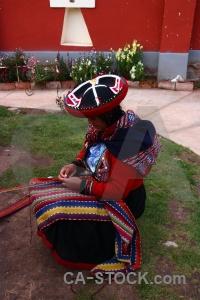 Peru altitude person chinchero andes.