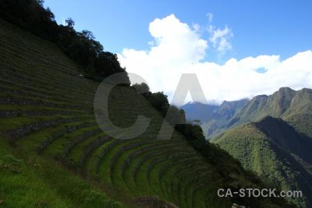 Peru andes sky inca trail stone.