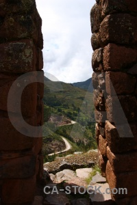 Peru andes wall valley pisac.