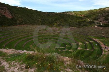 Peru bush sky circle maras.