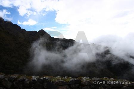 Peru cloud stone south america ruin.