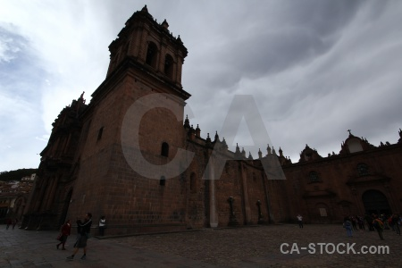 Peru cuzco church person altitude.