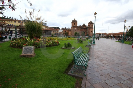 Peru cuzco square cloud church.