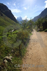 Peru inca trail mountain landscape path.