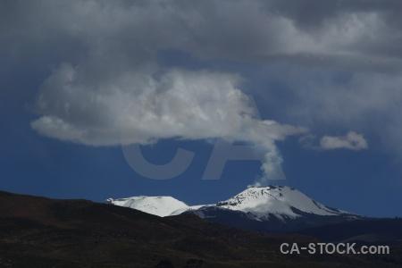 Peru landscape sabancaya altitude active.
