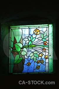 Peru mansion window stained glass mosaic.