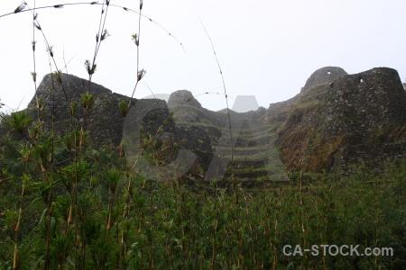 Peru ruin fog stone cloud.