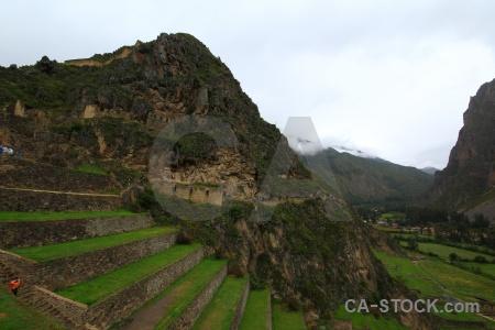 Peru ruin inca andes south america.