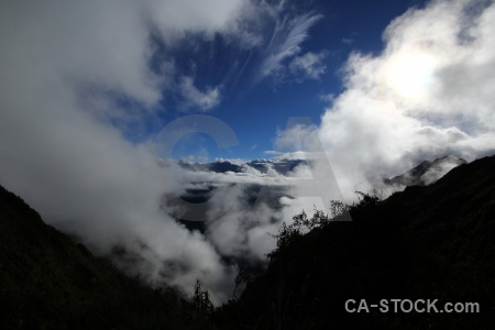 Peru south america andes cloud snowcap.