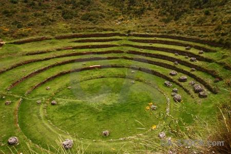 Peru terrace landscape andes moray.