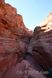 Petra canyon sky cliff jordan.
