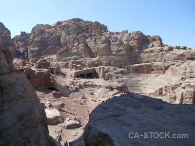 Petra mountain sky rock jordan.
