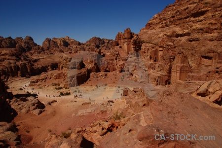 Petra nabataeans sky middle east cliff.
