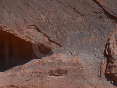 Petroglyph hieroglyph rock bedouin middle east.