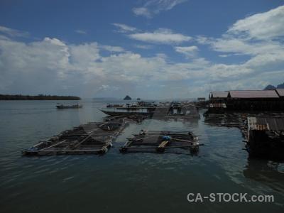 Phang nga bay building island sea thailand.