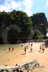 Phang nga bay sea thailand beach cliff.