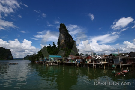 Phang nga bay sky sea cliff thailand.