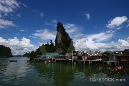 Phang nga bay sky sea cliff thailand.