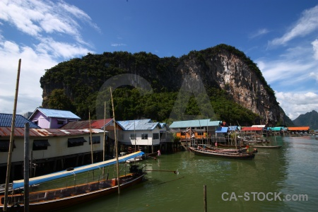 Phang nga bay stilts vehicle water koh panyee.