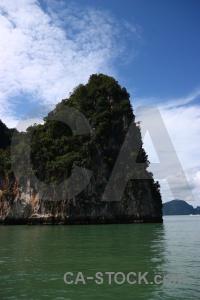 Phang nga bay thailand sky cliff asia.