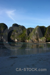 Phi phi island bay water sea maya.