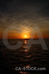Phi phi island reflection southeast asia silhouette sun.