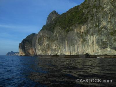 Phi phi island sky southeast asia rock sea.