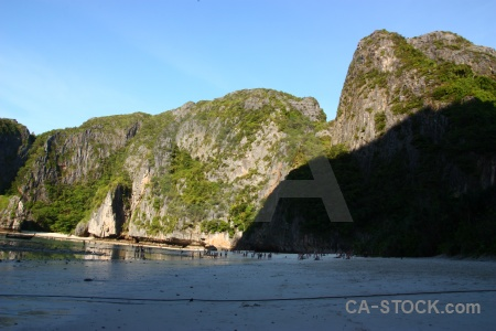 Phi phi island southeast asia rock sea tropical.