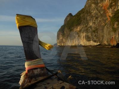 Phi phi island thailand asia boat ko leh.