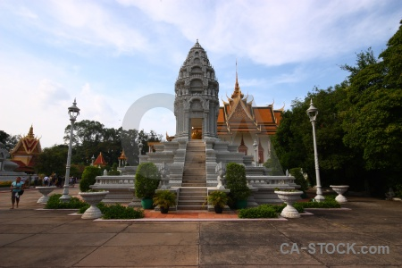 Phnom penh asia person cambodia palace.
