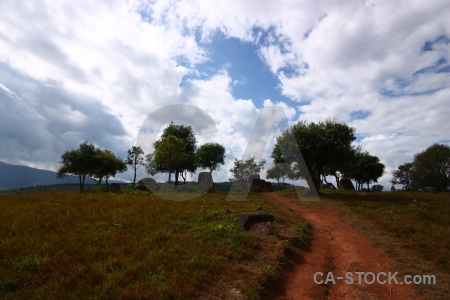 Phonsavan laos asia path sky.