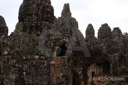 Pillar angkor buddhist buddhism lichen.