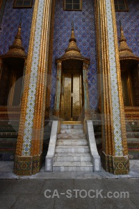 Pillar bangkok buddhist gold temple of the emerald buddha.