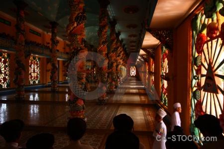 Pillar hall temple tay ninh holy see vietnam.