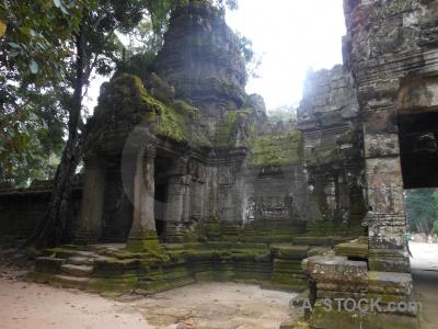 Pillar khmer stone unesco southeast asia.