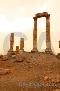 Pillar stone block jordan ruin.