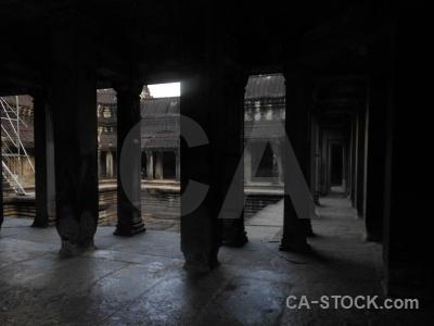 Pillar stone temple angkor wat buddhist.