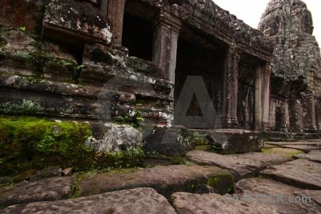 Pillar unesco angkor thom sky asia.
