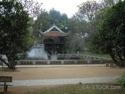 Pillar vietnam sky hanoi one pagoda.