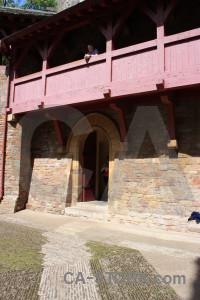 Pink building castle.