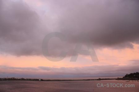Pink cloud sky.