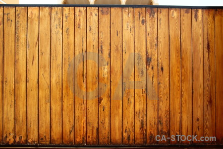 Plank wood brown gate orange.